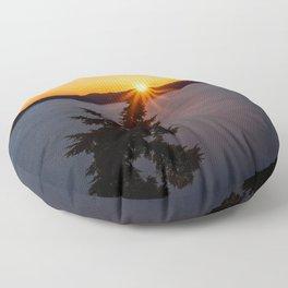 Sunset Tree Top Floor Pillow