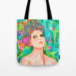 Kelsey with aquablue Tote Bag