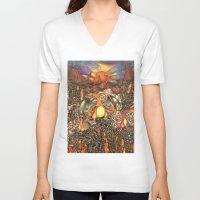 charizard V-neck T-shirts featuring charizard war  by IceDragon15