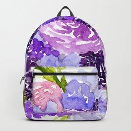 Sweet Purple Watercolor Bouquet Backpack