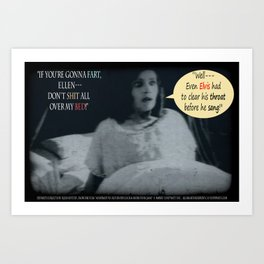 "'Ellen Hutter', FROM THE FILM "" Nosferatu vs. Father Pipecock & Sister Funk (2014)"" Art Print"