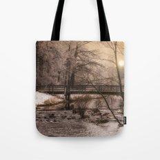 Dream time winter landscape Tote Bag