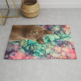 Beautiful Grey Cat Rug