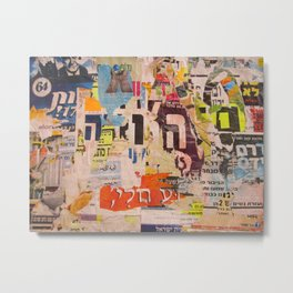 Hashem Poster Collage Metal Print