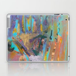 Abstract Landscape Colorful Mixed Media Painting by Garden Of Delights Laptop & iPad Skin
