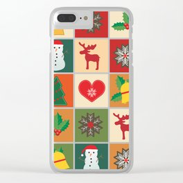 Holiday Cheer Christmas Clear iPhone Case