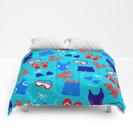 Summer Swim Party Pattern Comforters