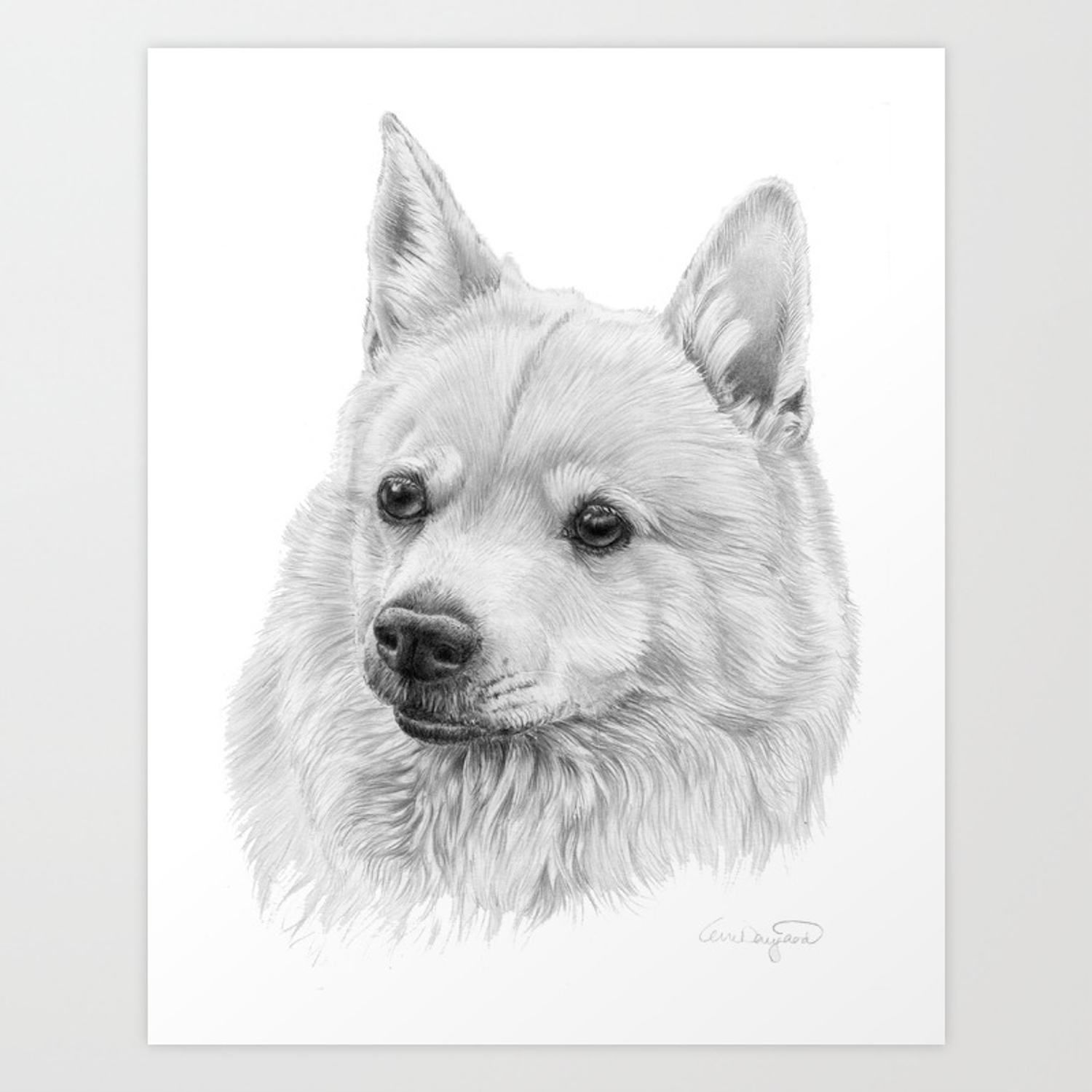 Norwegian Buhund Art Print By Doggyshop Society6