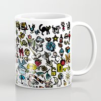 the 100 Mugs featuring 100 things by Michelle Behar