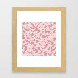 Camouflage Wedding Framed Art Print
