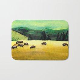 Bison Landscape Bath Mat