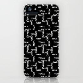 MAD TAHI-TEKAU Black 01-10 iPhone Case