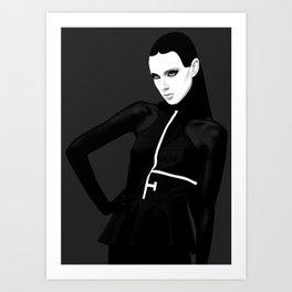 black & little white Art Print
