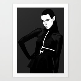 black & little white Art Print