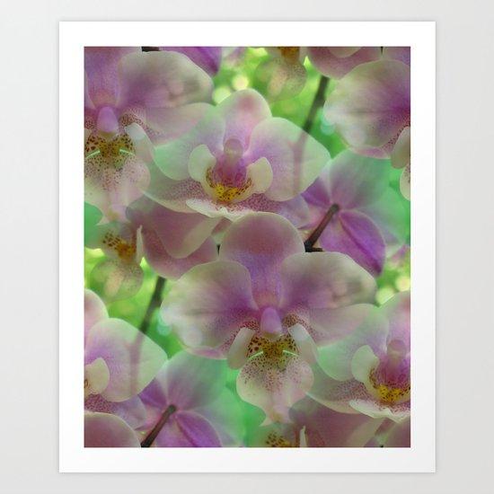 Tropical Pink Orchid Fantasy Art Print