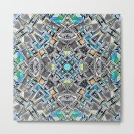 Colorful Geometric Structure Metal Print