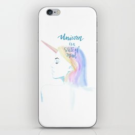 Unicorn rainbow iPhone Skin