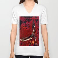 silent hill V-neck T-shirts featuring Silent Hill Pyramid Head by Joe Misrasi