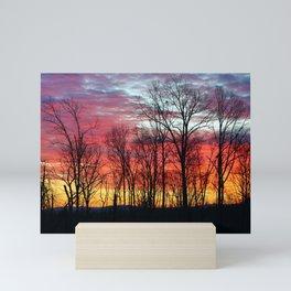Sunrise in Rugby Mini Art Print