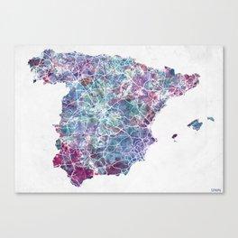 Spain map Landscape Canvas Print