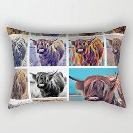 Yak Attack - Pop Art Collage Rectangular Pillow