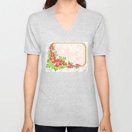 Frame from abstract berries Unisex V-Neck