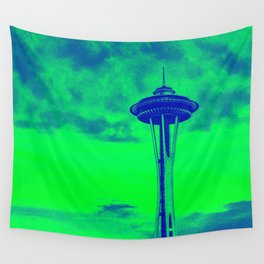 Space Needle (Seahawks Colors) Wall Tapestry