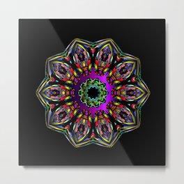 Geometric Flower SS Metal Print