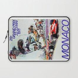 Gran Prix de Monaco, 1971, original vintage poster Laptop Sleeve