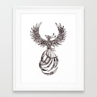 steam punk Framed Art Prints featuring Steam Punk Pheonix by Paviash
