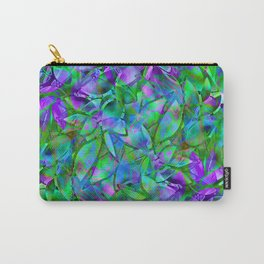 Floral Abstract Stained Glass G295 Carry-All Pouch