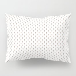 Hedgehog Forest Friends All-Over Repeat Pattern on White Pillow Sham