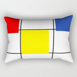Colourful design squares Rectangular Pillow