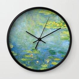 1906-Claude Monet-Waterlilies-73 x 92 Wall Clock