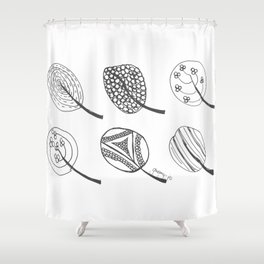Wee Leaves Shower Curtain