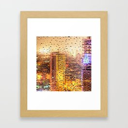 Rain Water drops Framed Art Print