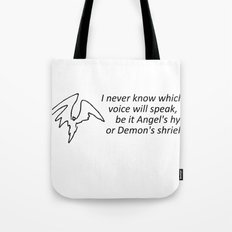 What Words Come Out Tote Bag