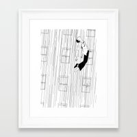 gravity Framed Art Prints featuring Gravity by Brian Coldrick