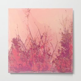 Lost in Pink (Carmine Pink Botanic Garden) Metal Print