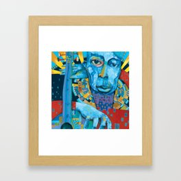 Blue Music Framed Art Print
