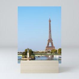 Statue of Liberty and Eiffel tower - Paris, France Mini Art Print