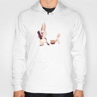 rabbits Hoodies featuring Rabbits by Anya McNaughton