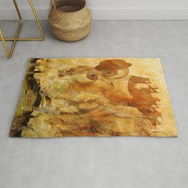 Monsieur and Madame Bone just married Rug