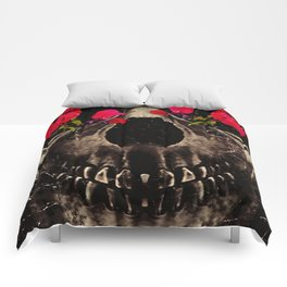 Death and Flowers Comforters