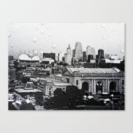 Union Station, Kansas City, Through the Rain Canvas Print