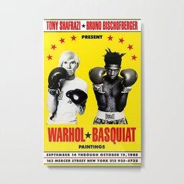 Basquiat Poster Metal Print