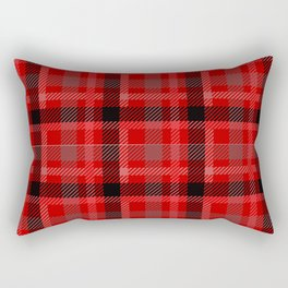 Red And Black Plaid Flannel Rectangular Pillow
