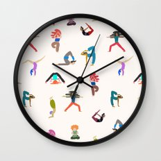yoga lovers Wall Clock