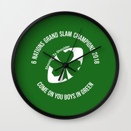 Ireland - Grand Slam Champions 2018 Wall Clock