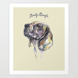 Lovely Beagle - by Fanitsa Petrou. Art Print